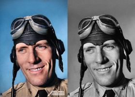 Ww2 American Pilot  - Colorized By Jecinci by jecinci