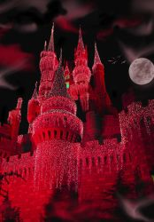 Castle Fantasy BKG 5 - red by WDWParksGal-Stock
