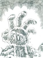 Zombie hand by POLO-JASSO