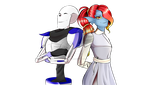 { Sensotale } - Papyrus and Undyne by Kiwi-Mivi1