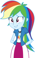 Rainbow Dash Positively Unsure by Uponia