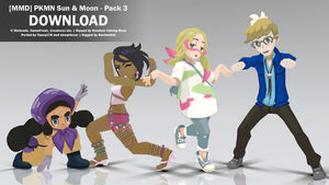 [MMD] PKMN Sun and Moon - Pack 3 DL by bechnokidMMD