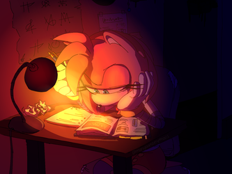 Amy Studying by Mangaanonymous