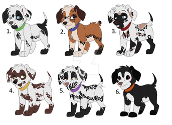 Puppy Adopts  (Slight Price Drop) by Claire-Cooper