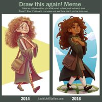 Draw this again - 2014 vs 2016 by LouhiArt
