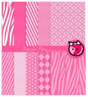 Baby girl shower papers by pinkfoxdesign