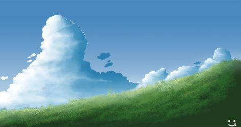 Grass and Cloud by LinoYuusuke