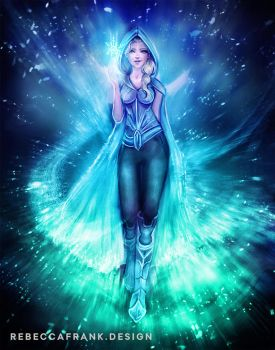 Winter Mage Elsa by RebeccaFrank