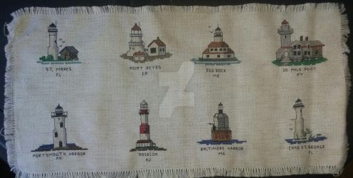 My Stitched Lighthouses by handylight