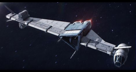 Slayn and Korpil S-8 P-wing assault starfighter by Shoguneagle