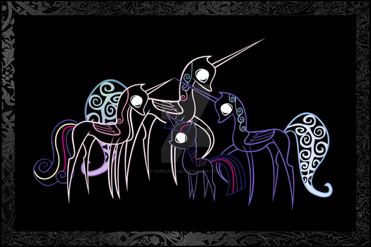 Princess' Scroll Neon by DarkLight02
