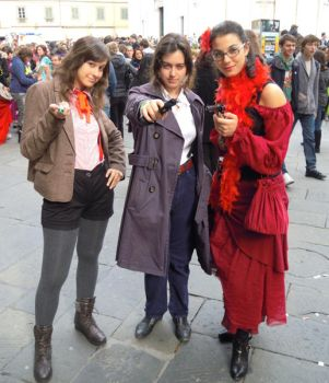 The Fem!Doctor, Jackie Harkness and a Saloon Girl by GreenArcherAlchemist
