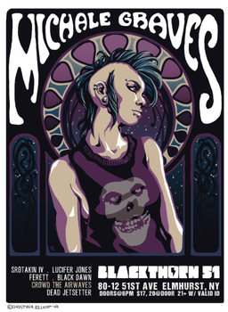 Gig poster: Michale Graves, Crowd the Airwaves by Mew-Sumomo