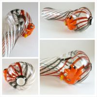 Charmander on Pokeball Glass Pipe by LeoGlass