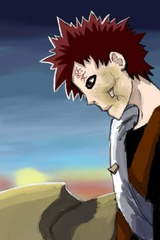 Gaara Week: Day Two: Desert by AlizesArt
