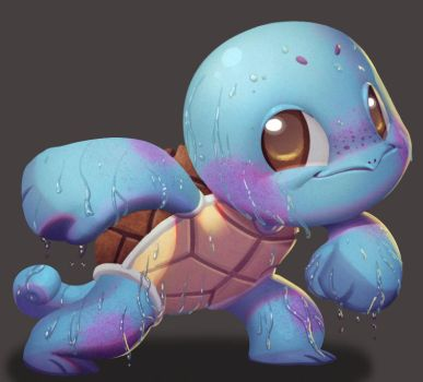 One face a day #76/365. Squirtle (pokemon) by Dylean
