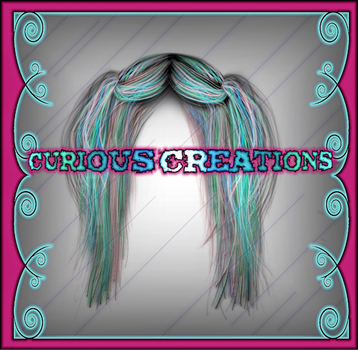 Long Blue and Pink Half Up Hair by VelmaGiggleWink