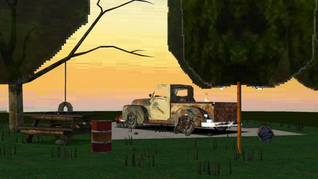 PS1 Art Throwback: Chevy Scene 2 by JordanNVFX