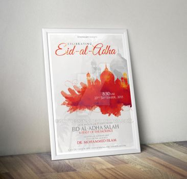 Eid-al-Adha Islamic Celebration Poster/Flyer by sktdesigns