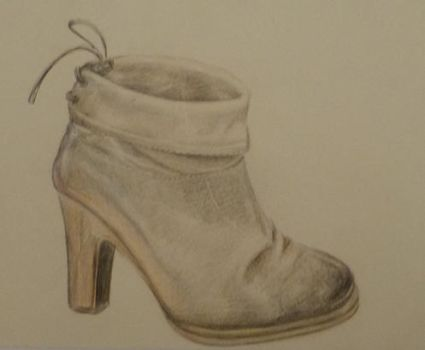 old sketch shoe by manoatari