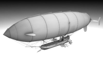 Steampunk Airship 01 by zombie2012