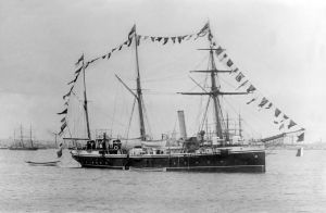 HMS Ringdove 1889 on Australian Station Aberdeen by lichtie