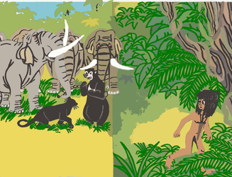 Trouble in the Jungle (Redrawn) 7 by tcr11050