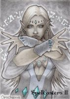 Spellcasters II Sketch Card - Optic Nerve 1 by Pernastudios