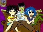 I Toast One More Time For My Friends~ Gorillaz by PuercaGin