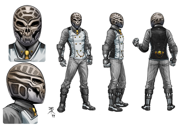 Adversary model sheet with Color by Europa777 and by Kaemgen