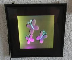 Fluttershy Cutie Mark - Multi-colored LED Picture by steeph-k