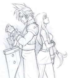 FF7 Cloud and Tifa by gndagnor