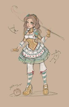 Steampunk Alice Sketch by NoFlutter