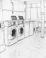 Laundry Room by roxination