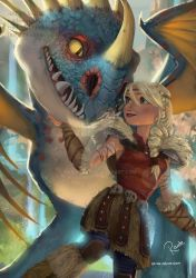Astrid and Stormfly by RaidesArt