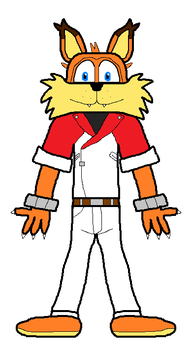 Bubsy cosplaying Matt Engarde by RagingBullet