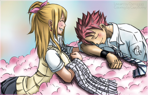 [Collab] Coloring: NaLu ~ Sweet Dreams by CazyBunny