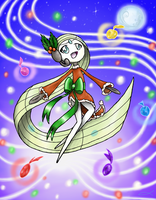Meloetta Christmas Form by Arceusfish