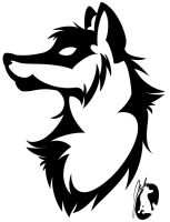 wolf tattoo :head: by jenkstar1