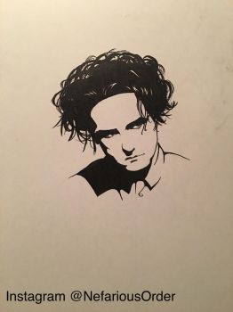 Daily drawing, Robert Smith of The Cure by NefariousOrder