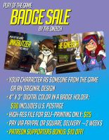 Play of the Game Badge Sale! by the-gneech