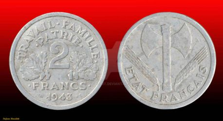 Coin 2 Franc 1943 - (France) by Book-Art