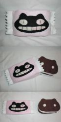 Cookie Cat Plushie with Wrapper by Bunnygirl2190