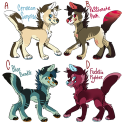 Colored Dog Adopts (4/4) open by toxicfox100