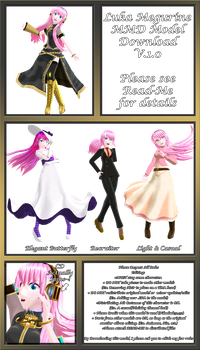 Megurine Luka MMD Model Download (V.1.0) by Pikadude31451