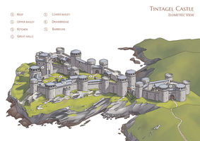 [Morgan le Fay] Tintagel - Isometric View by Aliciane