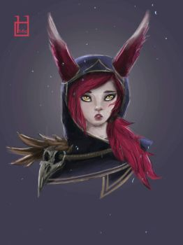 Xayah fan art by minhhiu