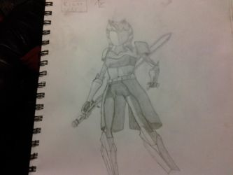 Ahsoka Sketch 2 by Ahsoka-Tano757