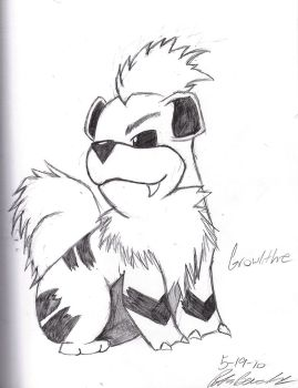 Growlithe by SesshosGirl