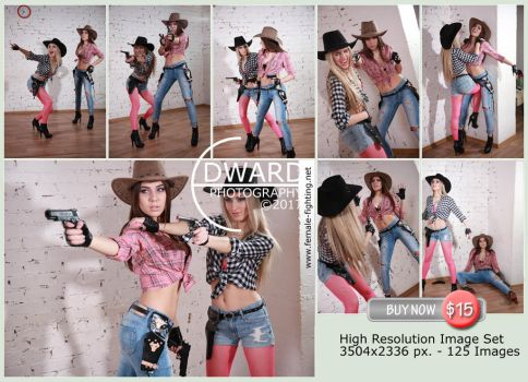 Cowgirls gunfight -125 high resolution images- $15 by Edward-Photography